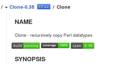 Badges for Clone on CPAN